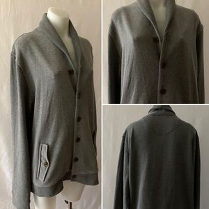 TED BAKER Grey Jersey Long Sleeve Jacket